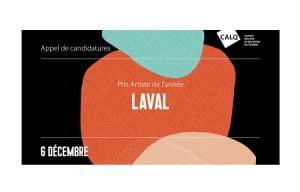 Prix du CALQ – Artiste de l'année à Laval